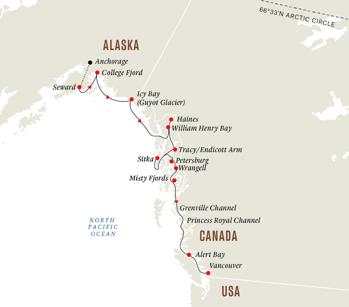 Canada Alaska Wilderness Glaciers And Culture Zuidwaarts 2022